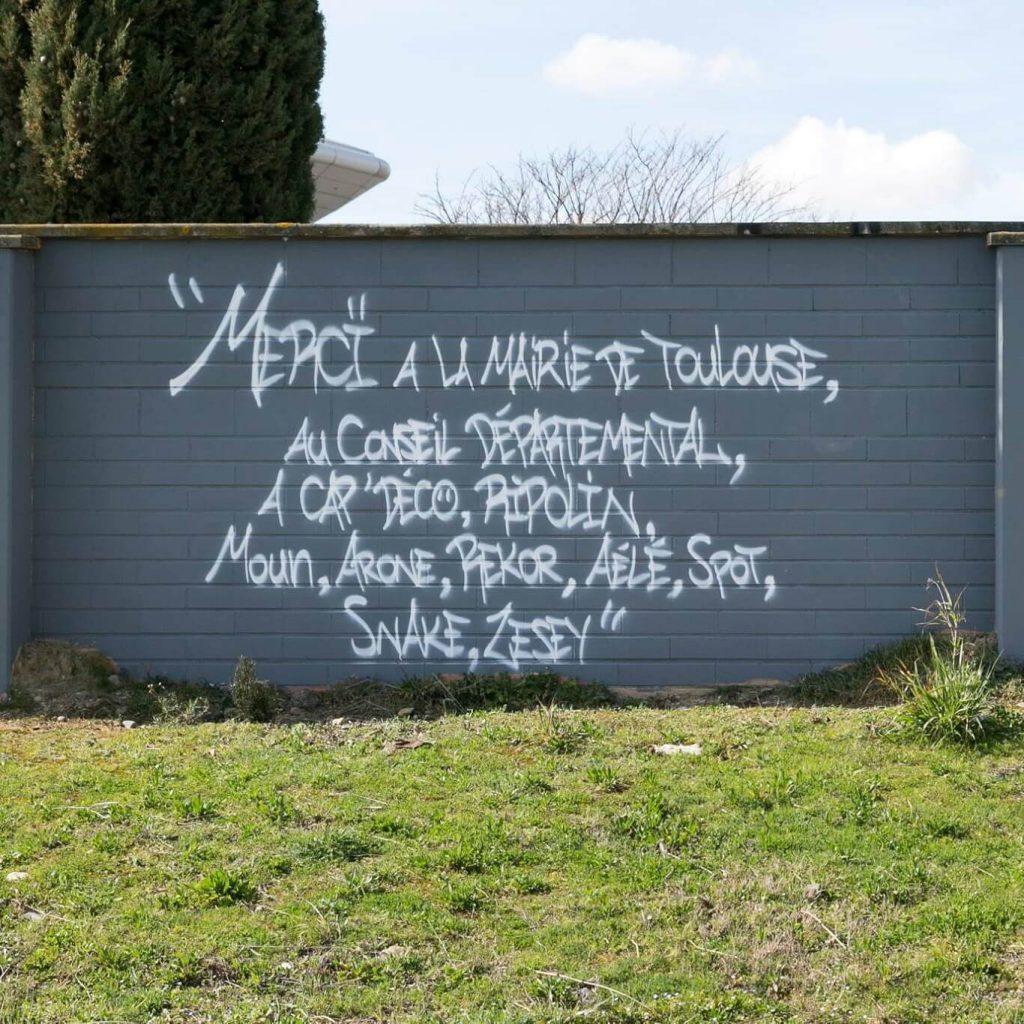 Galerie ciel ouvert graffiti Toulouse